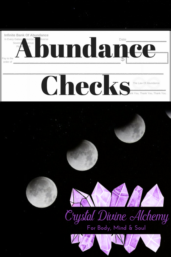 Abundance Checks,new moon checks