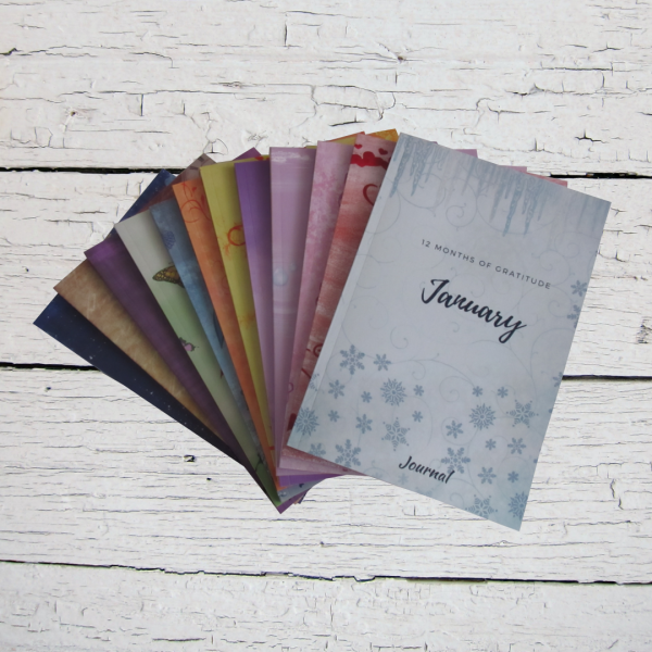12 Months of Gratitude Journal: January Notebook (Series 1)