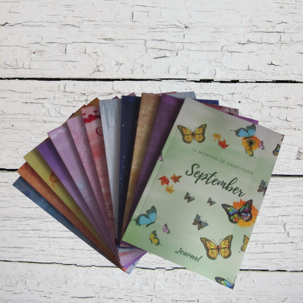 12 Months of Gratitude Journal: January Notebook (Series 1)
