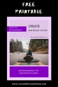 Create New Belief System: Healthy Boundaries
