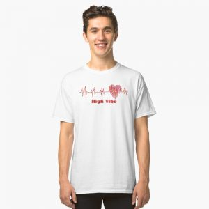 High Vibe Heart Electrocardiogram Classic T-Shirt